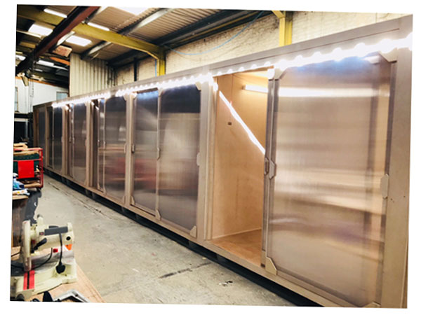 Commercial space for let wooden pods in south london